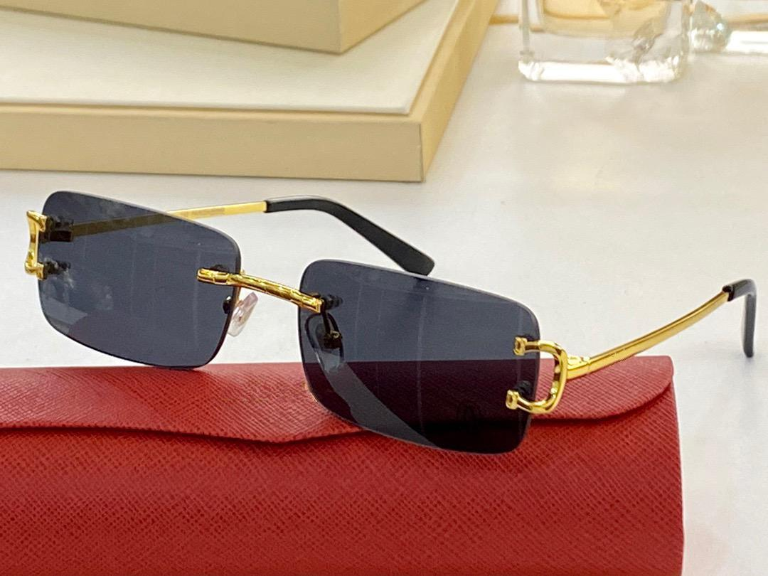 31368589 Summer style Gradient lens Sunglasses UV 400 Protection for men and Women Vintage square metal Frameless Top Quality Come With Case classic eyeglasse