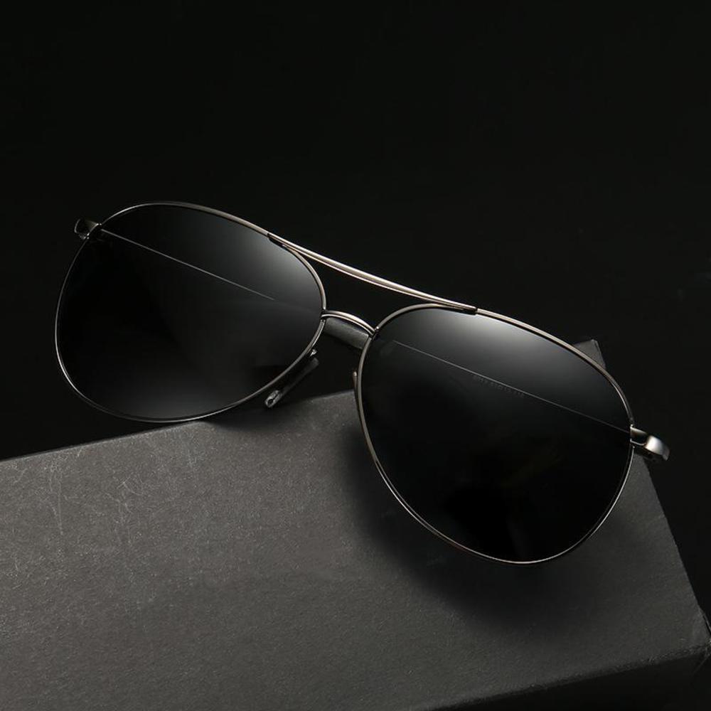 Veshion homens polarizado homens óculos piloto sol óculos para fêmea masculino condução tac lente homem mulher óculos dia noite vintage uv400