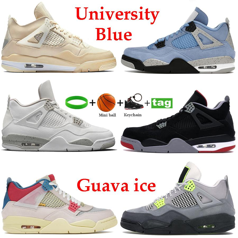 أحدث Taupe Haze University الأزرق 4S 4 الرجال أحذية كرة السلة الأبيض X Sail Oreo Noir Guava Ice Pine Green What