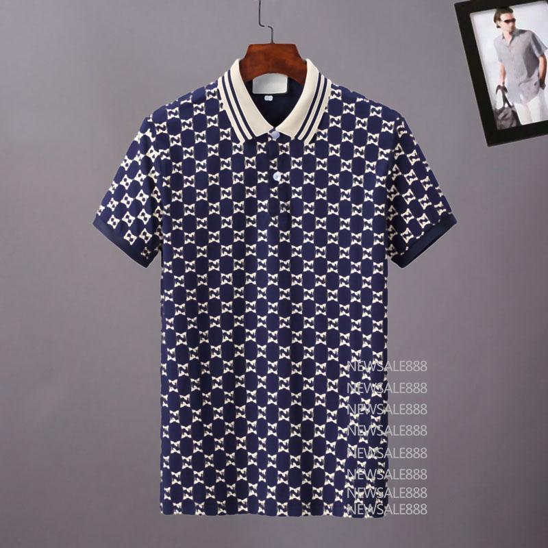 Мужские стилисты поло рубашки поло люкс Италия мужская одежда с коротким рукавом мода повседневная мужская летняя футболка много цветов доступна размер M-3XL