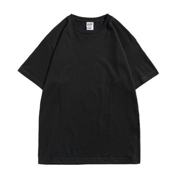 2021 Katı Siyah T Shirt Beyaz Erkek Kadın Moda Erkekler S Casual Tişörtleri Adam Giyim Sokak Şort Kollu 21ss Giysi FA99866