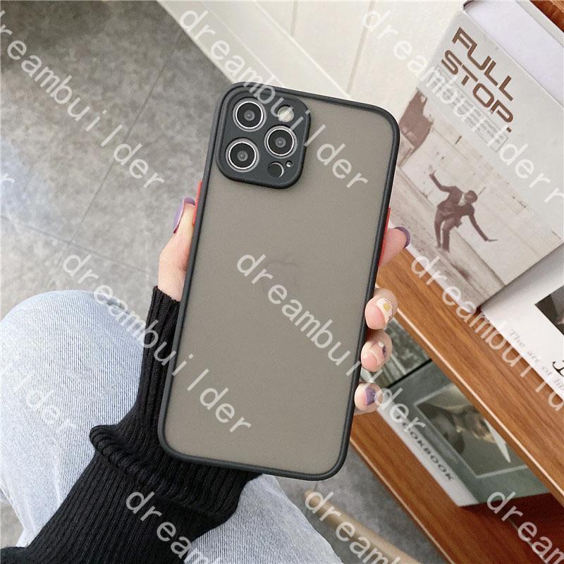 L Lüks Tasarımcı Moda Telefon Kılıfları Için iPhone 12 Pro Max 11 11pro 11promax X XS XSMAX XR Temizle Hard Case Darbeye Şeffaf Kabuk Cilt Kaymaz Kapak hissediyorum