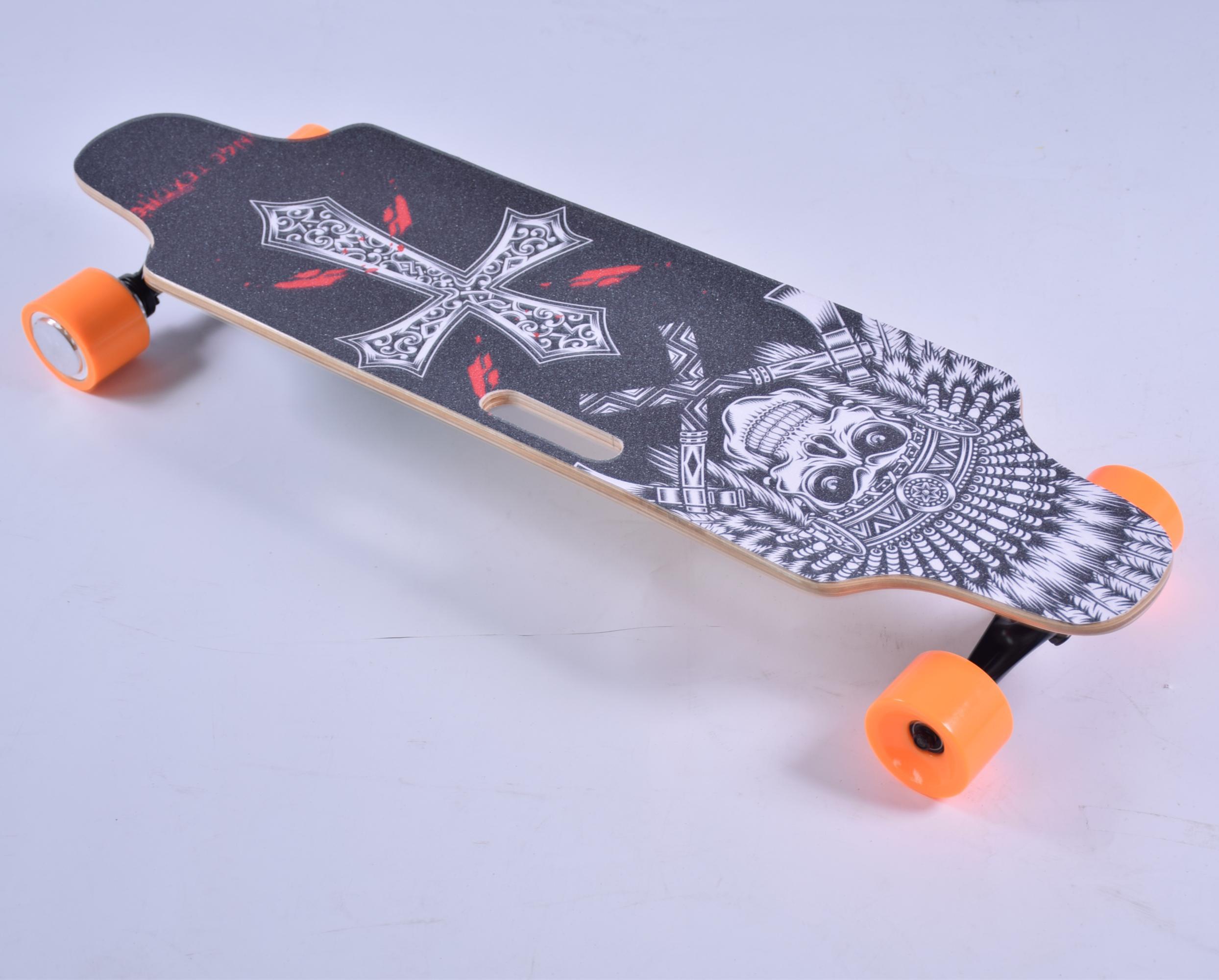[UE INSTOCK] HT-S1 Smart Skateboard 4 ruote Longboard elettrico Bicicletta 300W 2 doppio motore 24V 4.4Ah con telecomando digitale 2.4G di alta qualità 2pcs