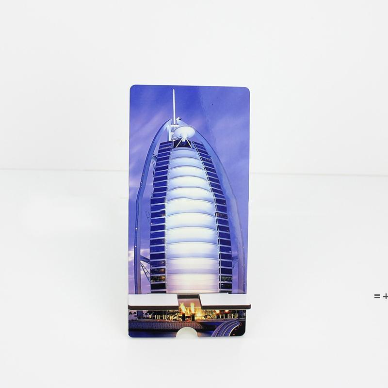 Süblimasyon Telefon Standı Tutucu El Sanatları Ahşap DIY Desen Fotoğraf Boş Ev Süsler HWD9267