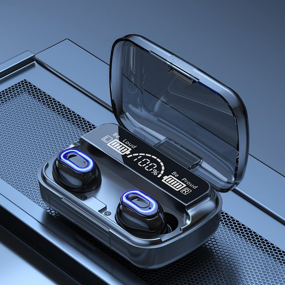 Classic M1 Tws Bluetooth 5.1 Kopfhörer Digitalanzeige Headsets Touch Button LED Funkkopfhörer True Ohrhörer Stereo-Kopf-Telefone