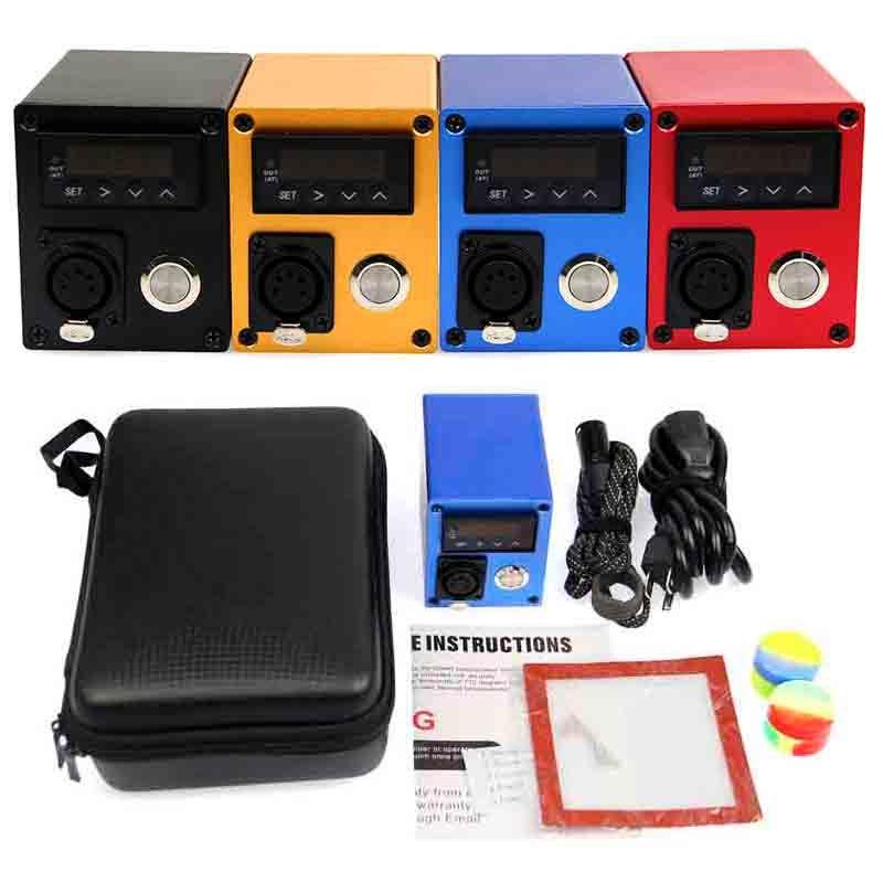 Мини-мешок Dnail Enail Vaporizer E-сигаретные комплекты PID контроль температуры нагреватель коробка мод воск концентрат DAB аксессуары питания кабель