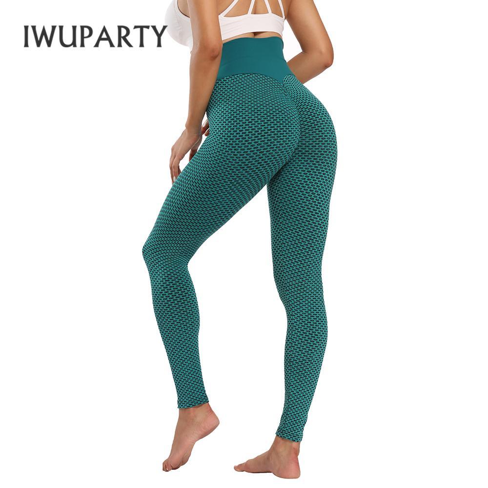 IWUPARTY Корпус доказательство йоги брюки широкополосную талию текстурированные спортивные ногирующие actsivewear женский фитнес тренировки бегущих болота