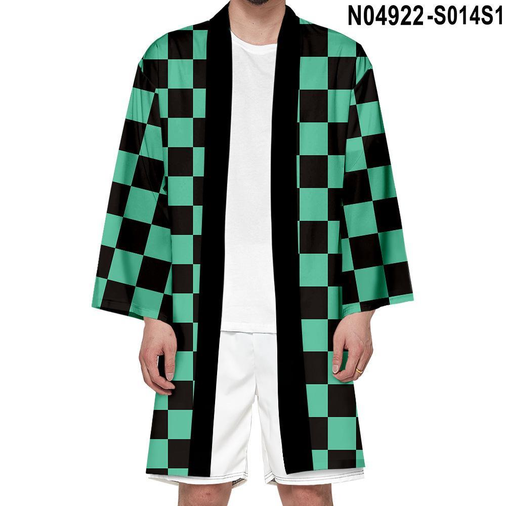 Anime Costumes Anime Cosplay Costumes Man/Woman Extended Demon Slayer Kimono Uniform Nezuko Tomioka Zenizu Accessories Summer Jacket Coat