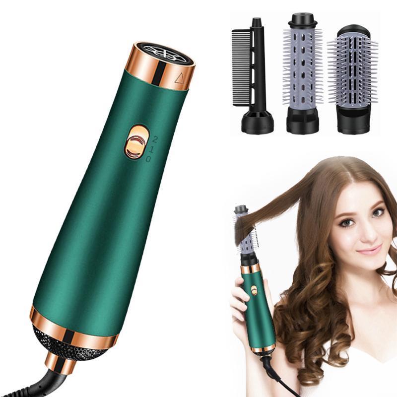 فرش الشعر الكهربائية 3 في 1 فرشاة مجفف الأيونية Volumizer الهواء تدوير مستقيم مشط بكرة الشباك التصميم