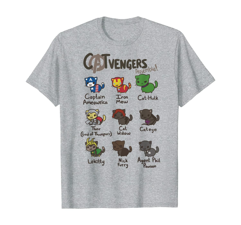 Catvengers Camisetas divertidas de gato por thecatsshop com