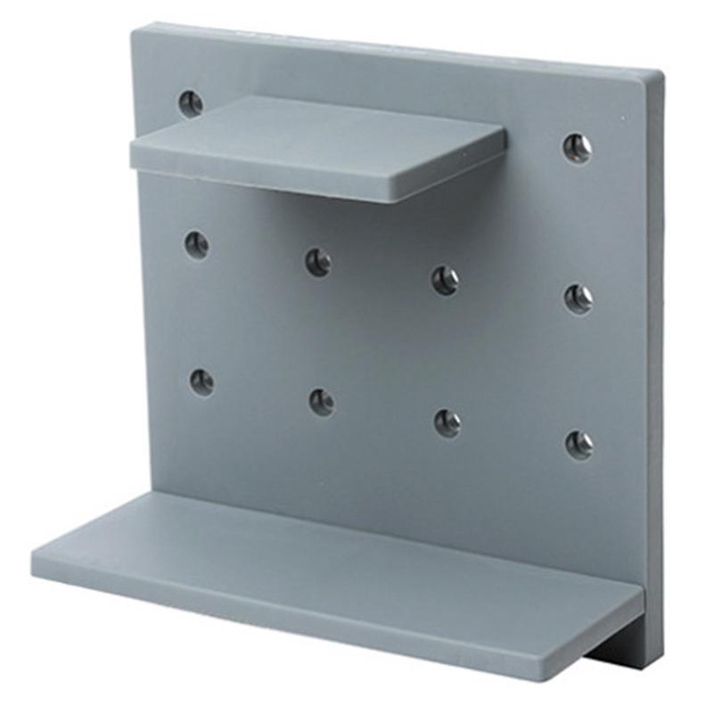 تنظيم تخزين المطبخ لكمة خالية من المنزل هول مجلس جدار رف الحمام الجرف شنقا منظم خزانة