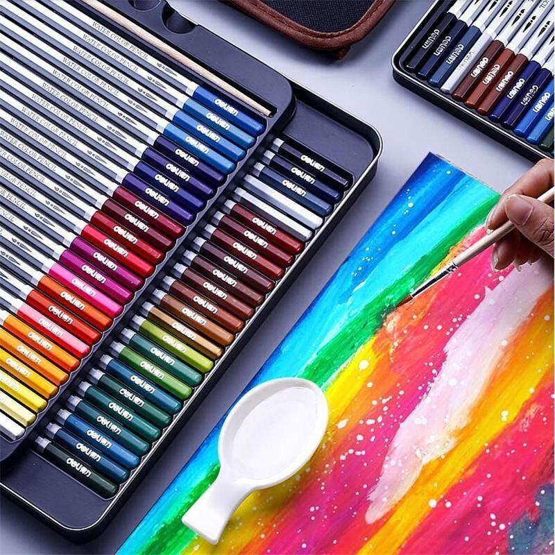 Colores Profesional Acuarela Lápiz Juego de Lápices Art Bosquejo Dibujo Pintura Lápices Regalo Escuela Suministros Estacionarios 05401