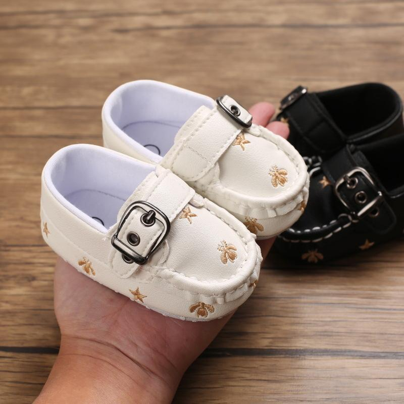 Baby Boys Girls First Walkers PU Leather Soft Sole Newborn Gommino Animal Bee Prints Baby Moccasins Zapatos Bebe Drop Shipping