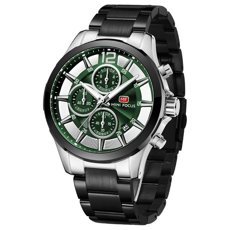 Relogio Masculino Sport Chronograph Relojes para hombre Top Reloj de cuarzo de acero completo A prueba de agua Reloj de dial grande Hombres Whatches Whistwatche Wristwatches