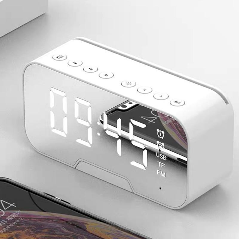 ساعات أخرى الملحقات المحمولة مرآة الصمام المنبه لاسلكي 5.0 بلوتوث راديو راديو مشغل موسيقى الإلكترونية الجدول الرقمي مع المزدوج م