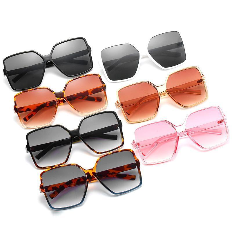 Lunettes de soleil 2021 Hommes Rectangle De Fashion Marque Designer Square Sun lunettes Miroir Shades Femme Eyewear UV400 Gafas