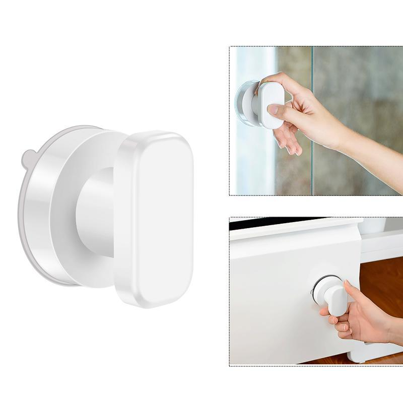 Handles & Pulls Suction Cup Pull Handle Anti-Fall Strong Adsorbent Knob Load Bearing Glass Mirror Door Adhesive Effortless Puller