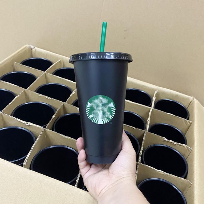 DHL Starbucks Mok 24oz Tumblers Cups Plastic Drinken Juice met Lip en Stro Magic Koffiemok Custom Transparent Cup Double Durian Goddess Cup Gift