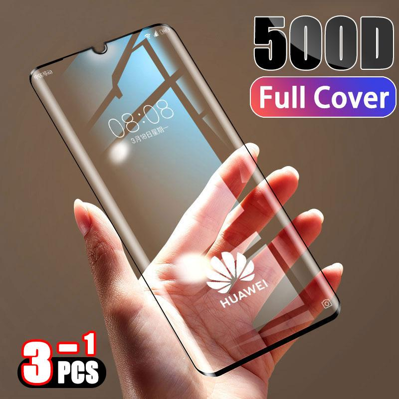Tempered Full Cover Protective Glass on For Huawei P30 P20 Lite Pro Screen Protector Film Honor Mate 20 10 9