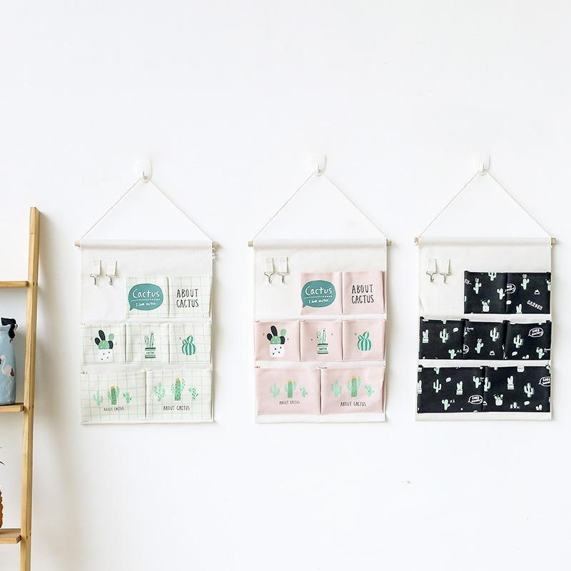 스토리지 박스 쓰레기통 벽걸이 가방 주최자 식료품에 대 한 다기능 햇볕에 덮여 문 옷장 뒤에 접는 4 색