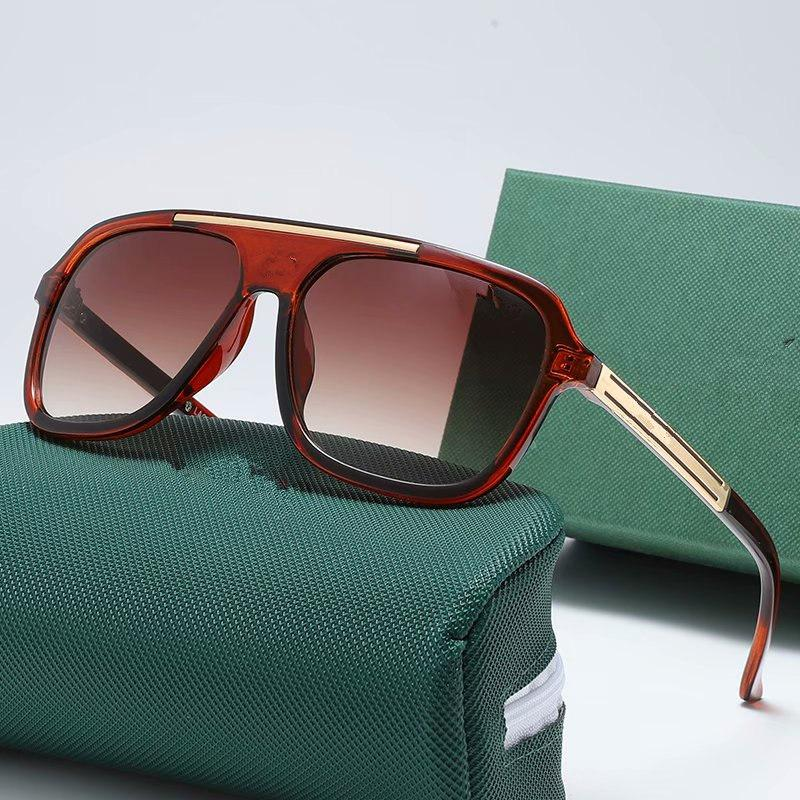 New mens sunglasses for men women glasses metal vintage fashion style square frame lens with case