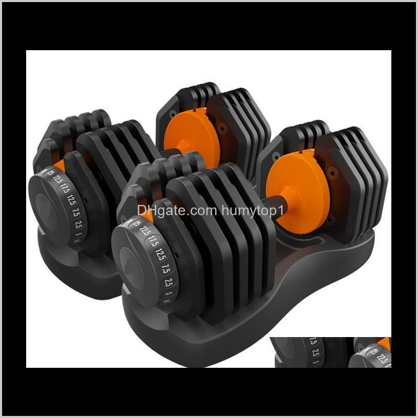 Supplies Sports & Outdoors 55.2Lb Adjustable Dumbbell Set 25Kg Household Fast Matic High Quality Dumbbells Fitness Equipments Drop Delivery