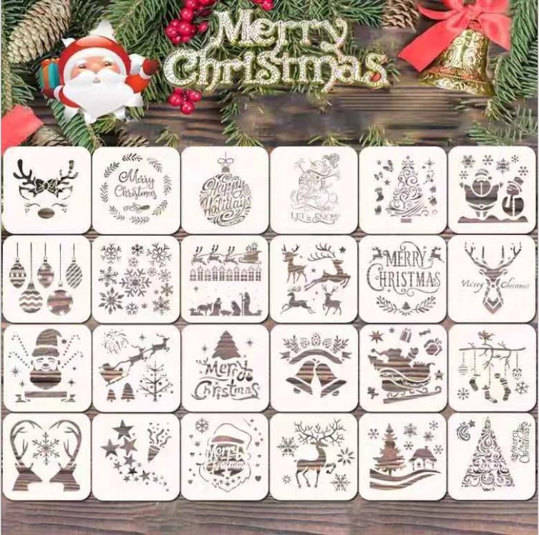 2021 Carta decorativa in legno NATURAL Wood Wood Snow sanda fiocchi decorazioni natalizie ornamenti scrapbooking fai da te party mestieri 10 cm 22 stili