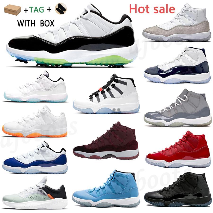 2021 선물 JUMPMAN 11 농구 신발 기념일 25th 11S 남성 여성 콩코드 45 BRED 높은 낮은 전설 블루 감귤류 공간 잼 감마 모자 및 가운 운동화 트레이너