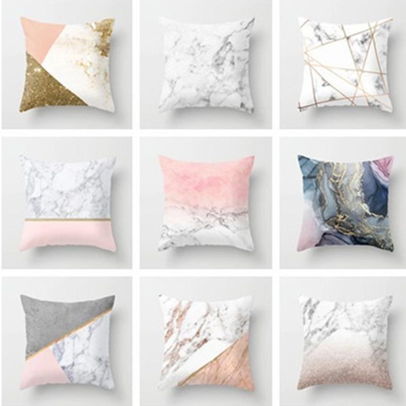 Kissen / Dekoratives Kissen Texturierte Kissen Fundas de Cojines Decorativos Auto Sofa Case Square Cover Federe Cuscini Divano Kussenhoes 45x45
