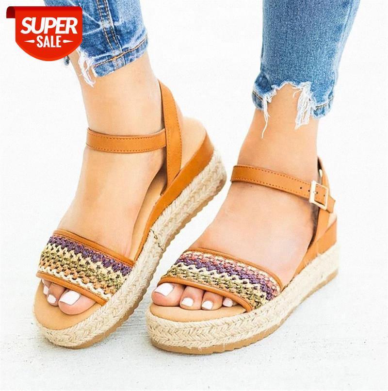 women shoes 2021 leather wedges Summer sandals plus size flip flop chaussures femme platform #he6h