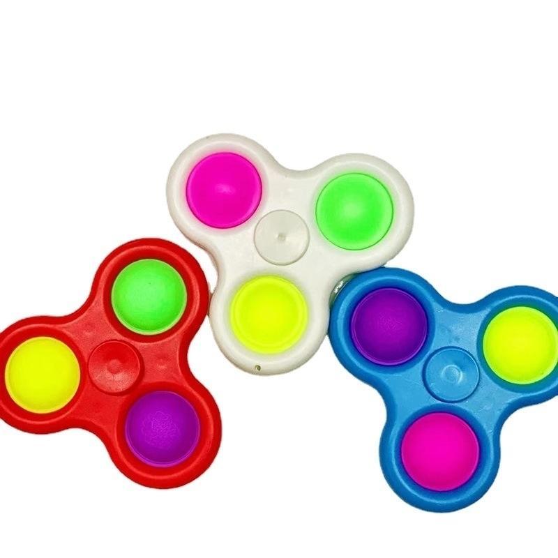 3 trous fidget push bulle spinner jouets sensoriel SIMPLE SIMPLE Bague Squeeze Doigt Bulles Keychain Fingerip Enfants Soulagement du stress des adultes Soulagement de Soulagement G33I2OY