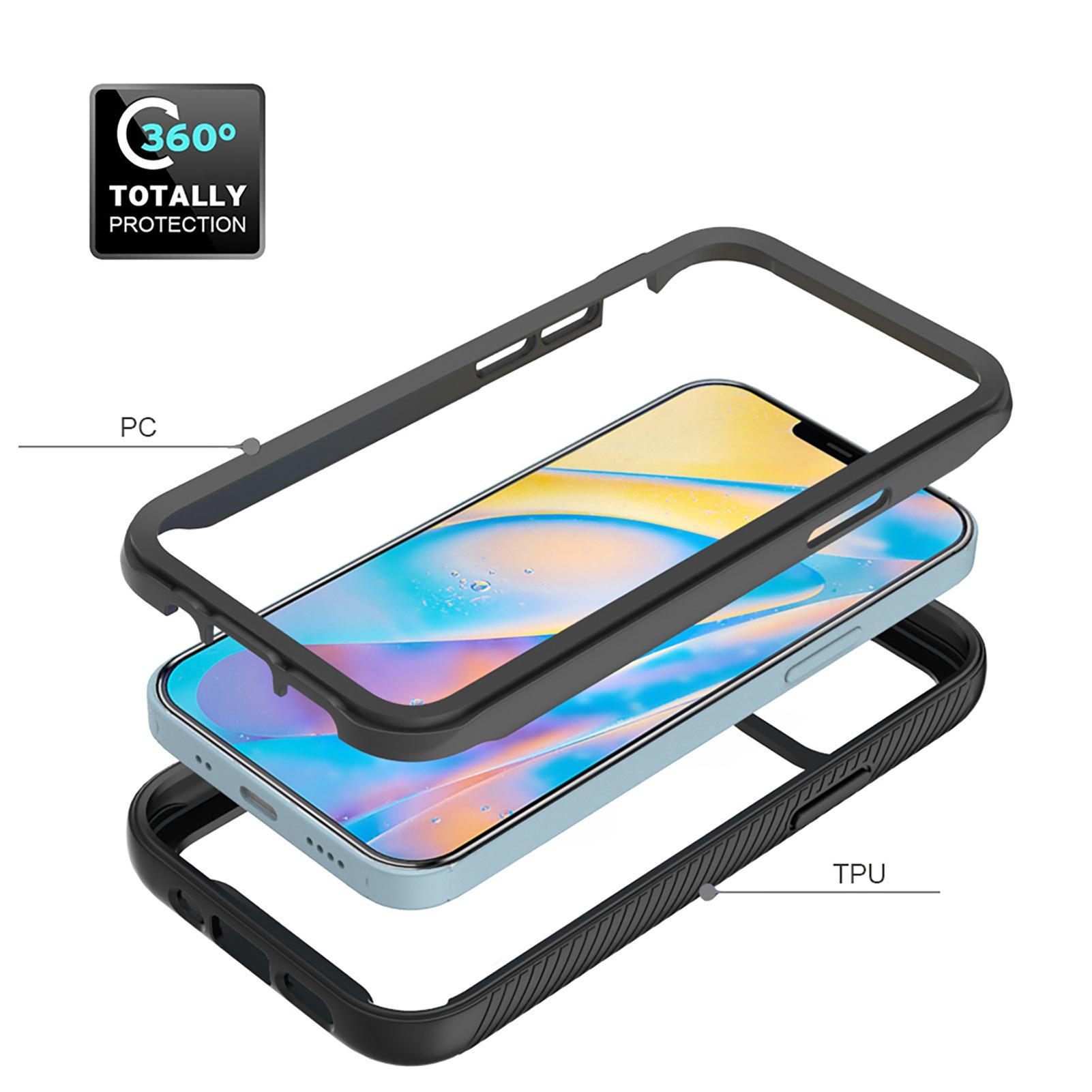 Capa de telefone de armadura à prova de choque para iPhone 12 11 Pro Xs Max X XR 6 7 8 PLUS SE 2020 Caixa Slim com Frame Frontal