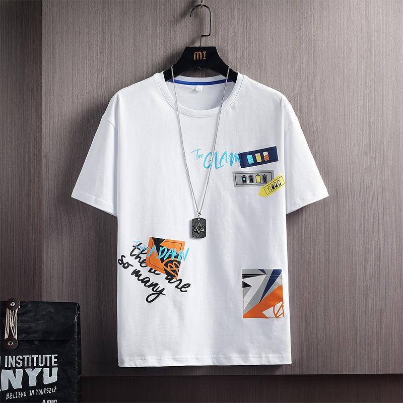 Yaz kısa t-shirt gençlik pamuk rahat kıyafetler yarım kollu sübstitut erkek moda marka bodyq9b7