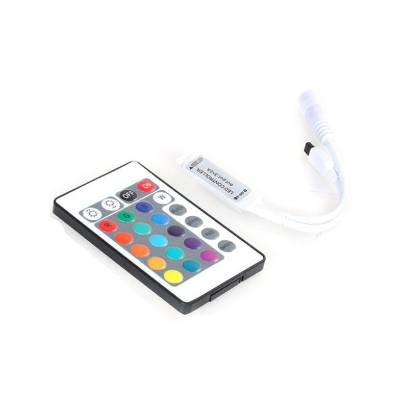 DHL 24 Touche Wireless Remote Contrôle de la télécommande 12V RGB Mini Dimmer du contrôleur de LED RGB pour la bande RGDED 5050 3528 3 LED de canaux