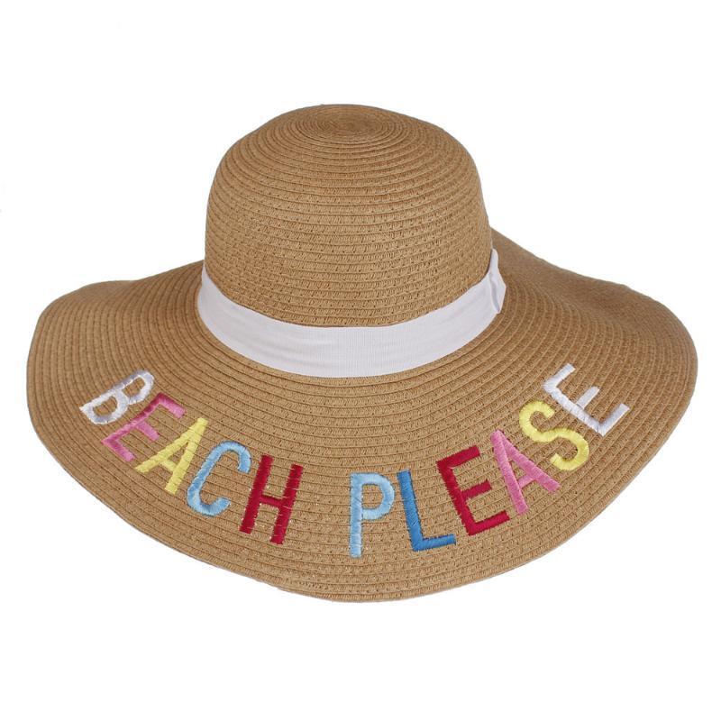 Kadın Güneş Şapkaları Panama Saman Kap Plaj Yaz UV Koruma Süper Geniş Ağız Disket Caps Kadınlar Vizör