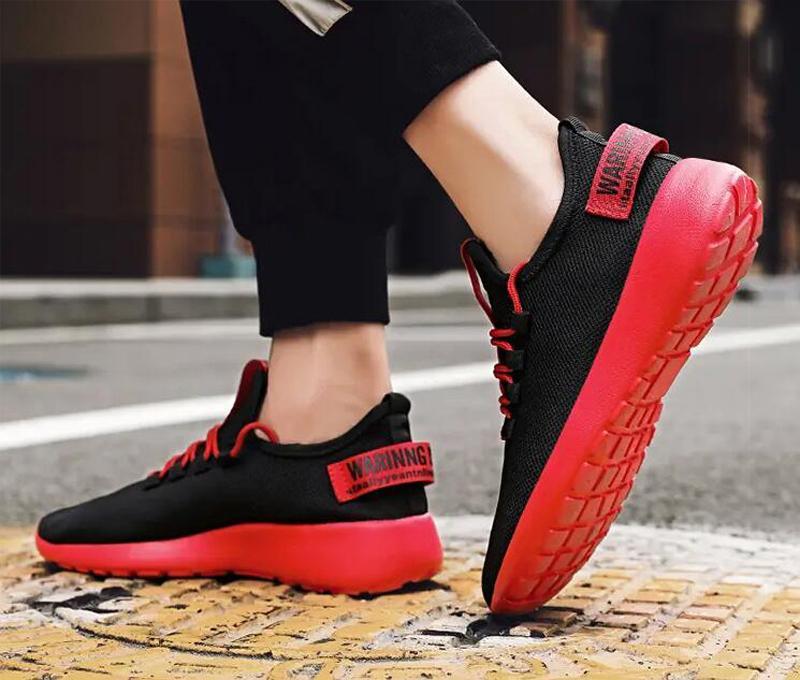 2021 جودة عالية الرجال الاحذية الأبيض الأسود الأصفر الأحمر الأزياء الصيف شبكة تنفس المدربين الرياضة حذاء رياضة الحذاء خمسة الحجم 38-46