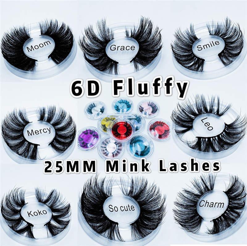 도매 25mm 6D 가짜 밍크 Lashes 자연 긴 거짓 속눈썹 볼륨 가짜 눈 속눈썹 메이크업 확장 속눈썹 maquiagem 무료 사용자 정의 로고