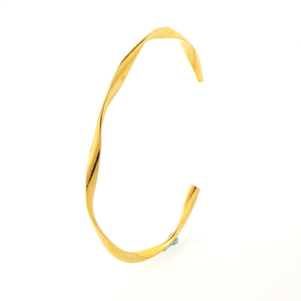 الذهب المعادن الملتوية بارد الإسورة 14 كيلو الذهب المرأة سوار الحد الأدنى الذهبي صفعة أساور لها