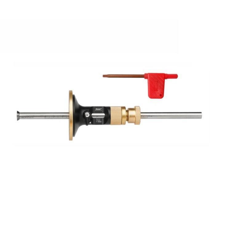 Conjuntos de ferramentas da mão profissional Conjuntos de roda de calibre de marcação de madeira Scriber com 2 cortadores de substituição Barra de metal maciço escriba de madeira para carpinteiro
