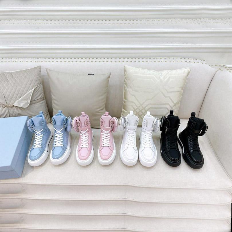 Zapatillas de deporte de diseño oblicuo zapatos de lona de alto rango de zapatillas de deporte para hombre de cuero de piel de cuero de alta calidad para mujeres de alta calidad Tamaño del entrenador 35-45