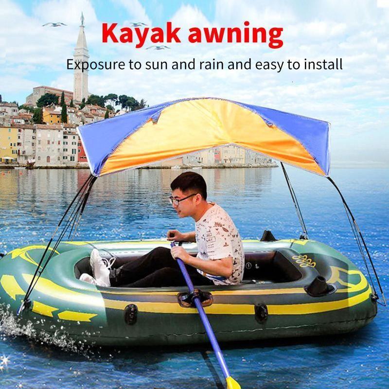 Barco inflable resistente al desgaste de la balsa inflable para la pesca que navega a prueba de agua Sun Shelter TRIANGLE SUNSHADE PATIO Tarjetas al aire libre