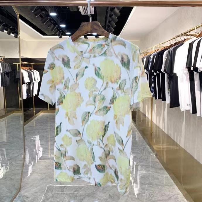 2021 الصيف حار بيع رجل مصمم النمر رئيس الديكور القمصان ~ الصينية الحجم بلايز ~ قمم رجل جديد مصمم قصيرة الأكمام القمصان