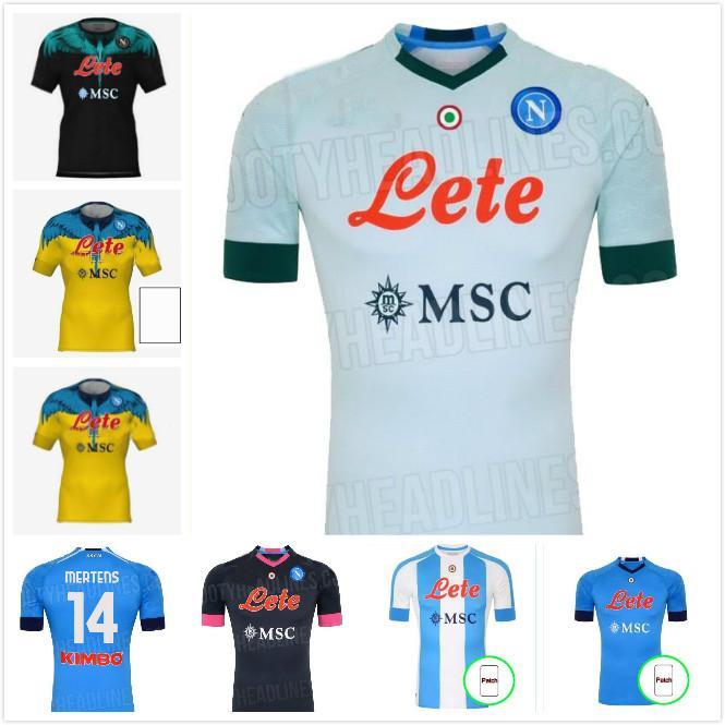 20 21 22 Napoli Vierter Tribut an Diego Maradona Fussball Jerseys Camiseta Insignente Mertens H.Lozano 2021 2022 Neapel Football Shirts Kit