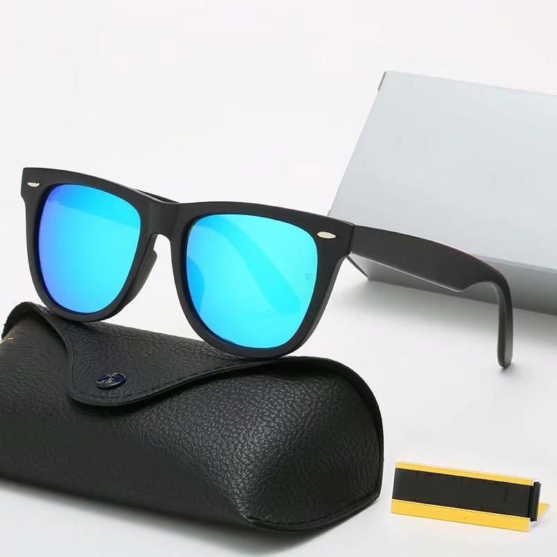 2021 Luxury Mans Donna Occhiali da sole Designer Brand Brand Occhiali da sole polarizzati UV400 Uomo Donna Occhiali da sole da donna Ciclismo guida Occhiali da Sole Alta qualità con custodia in pelle