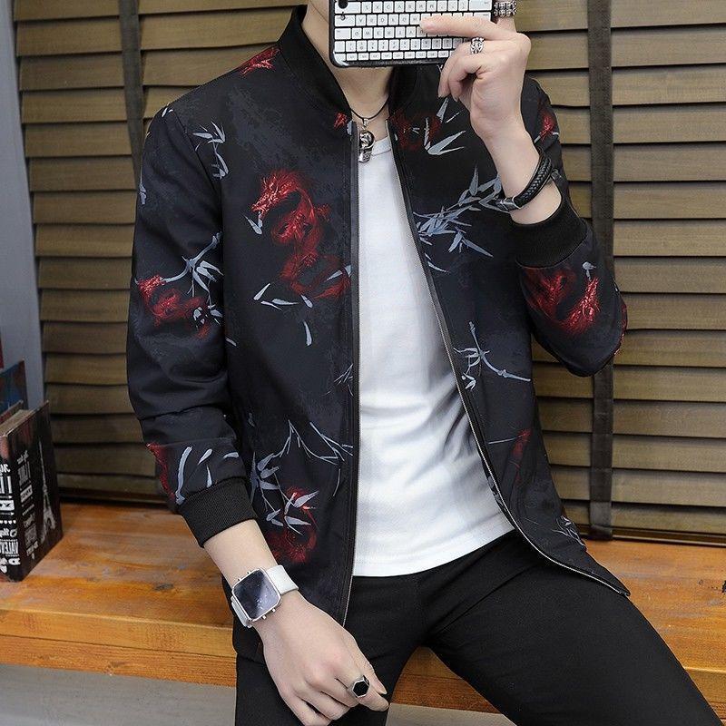 Jaquetas masculinas Qualidade Bomber Sólido Casual Casaco Homens Primavera Outono Outono Outerwear Mandarin Sportswear Mens para Casacos Masculinos M-4XL