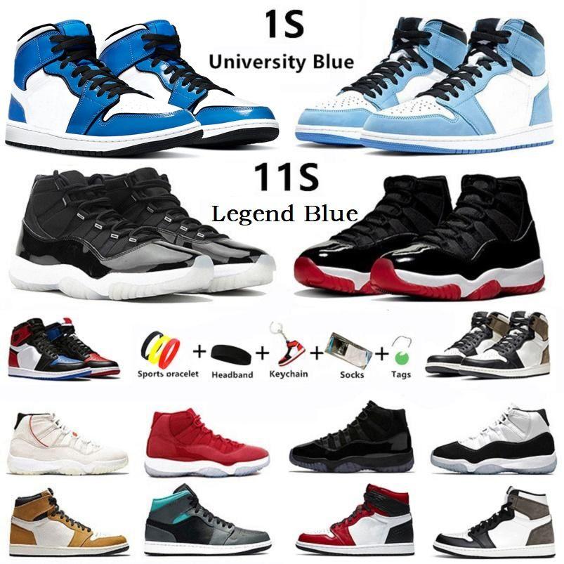 с коробкой University blue 1s Jumpman 11s Jubilee мужские баскетбольные кроссовки shadow Hyper Royal 11 Twist 1 dark mocha bred toe concord мужские кроссовки спортивные кроссовки