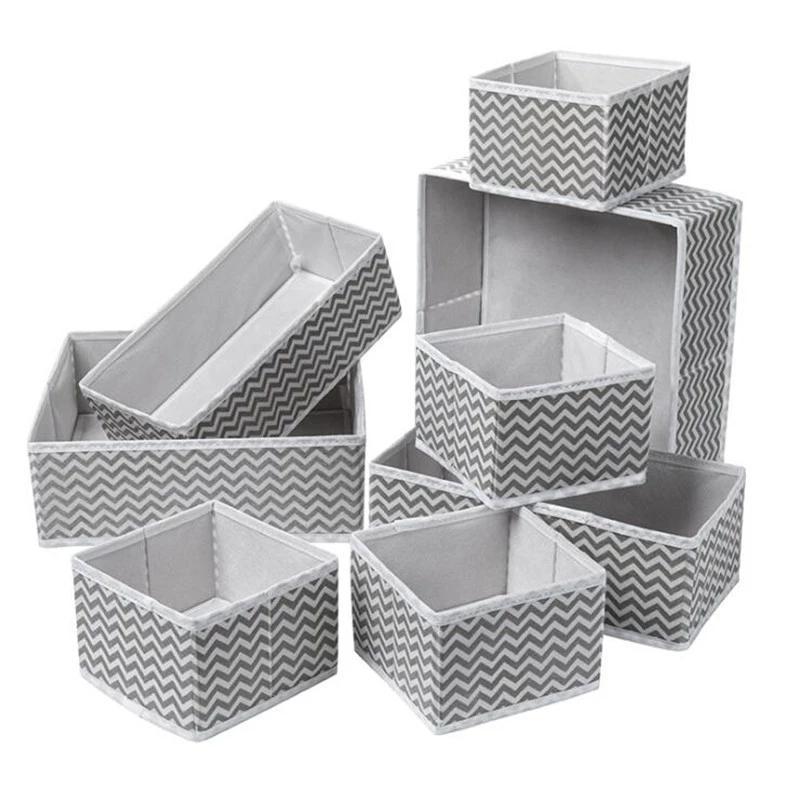Storage Drawers 6PCS-12PCS Foldable And CEO-friendly Box Underwear Divider Closet Organizer Internal Tie, Socks, Shorts, Bra