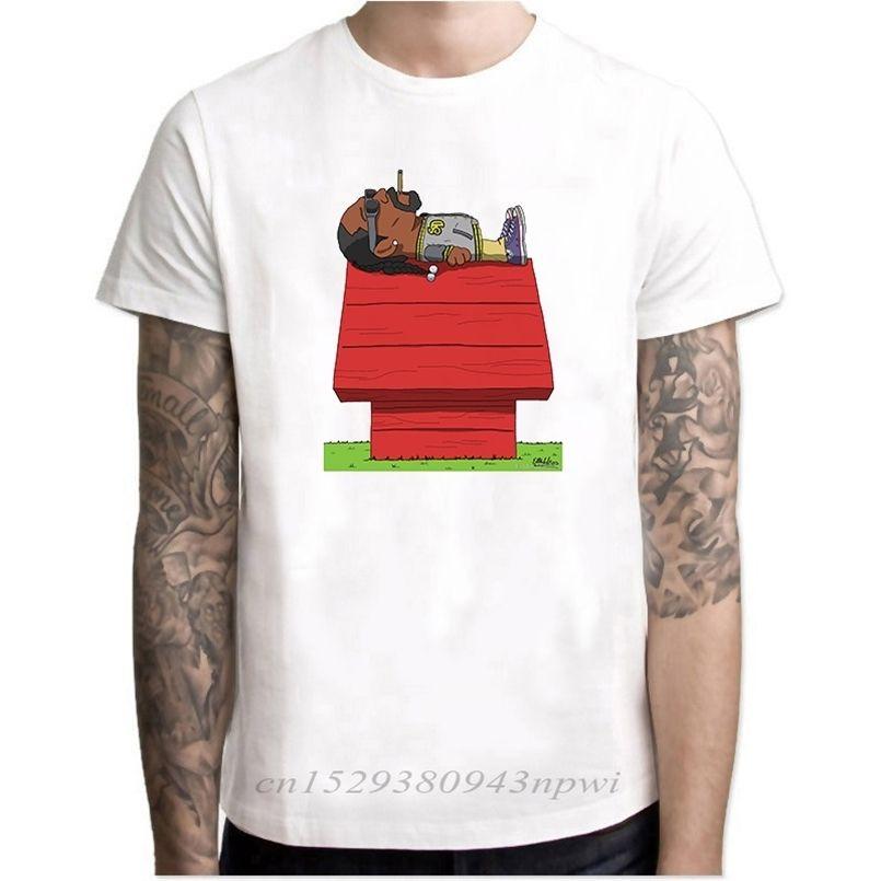 سنوب دوج رجل الراب تي شيرت الهيب هوب خمر محب الصيف الأعلى camiseta القطن قصير الأكمام بارد تي شيرت الجمالية الرجال tumblr 210420