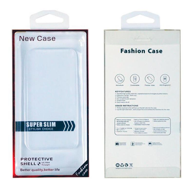 6.9inch Universal PVC Retail Packaging For IPhone 13 12 11 Pro Xs Max XR 8 Plus Phone Cases Gold Stamping Packing Box