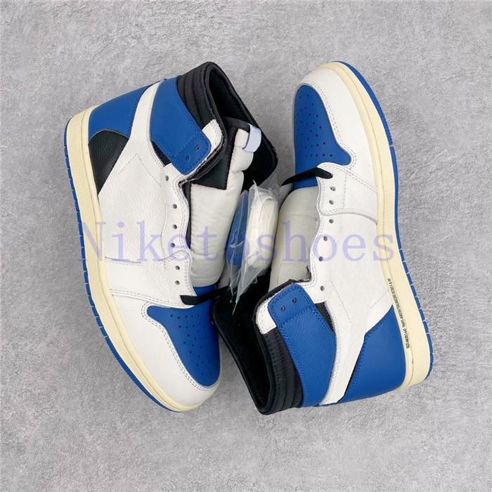 Military Blue High Sp Uomo Scarpa Bianco Nero Outdoor Travis Sports Sneakers Scarpe da ginnastica Frammento Scarpe da basket